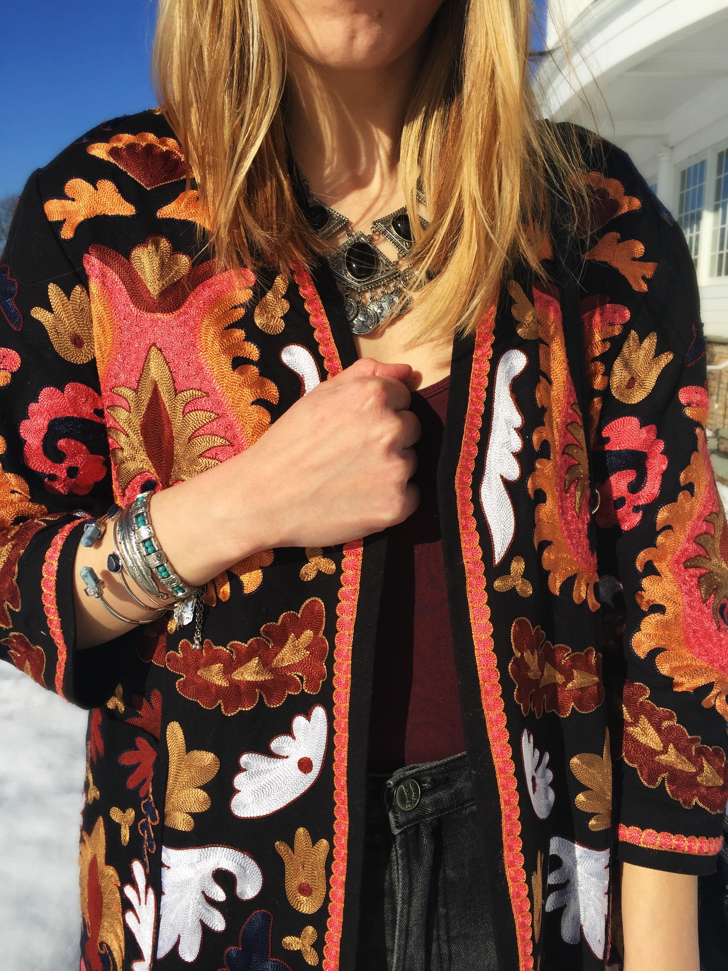 H&M Embroidered Kimono