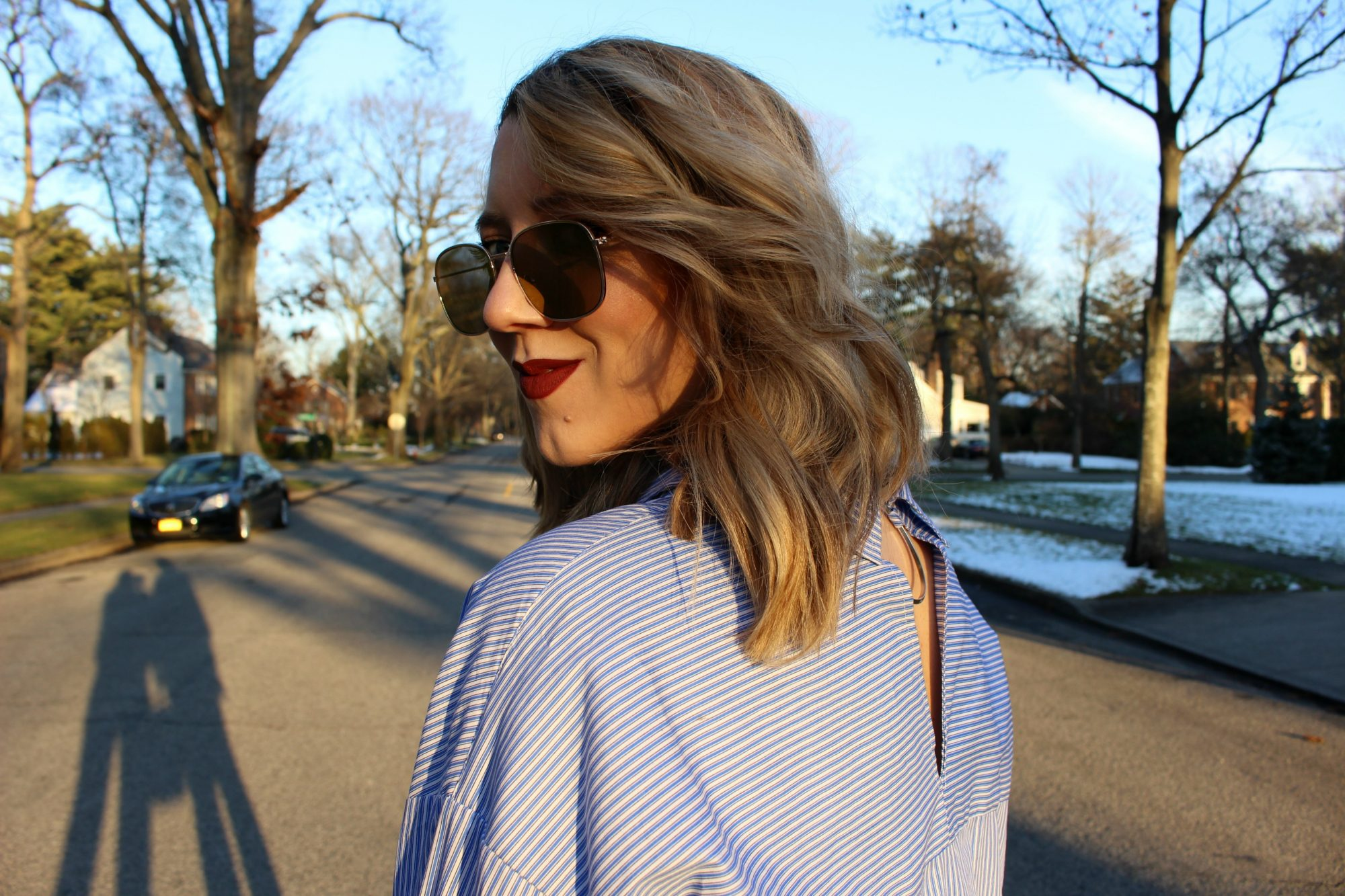Blue Striped Shirt Trend