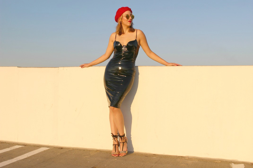 Vinyl Bodycon Dress